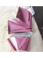 Фольга для дизайна ногтей светло розовая