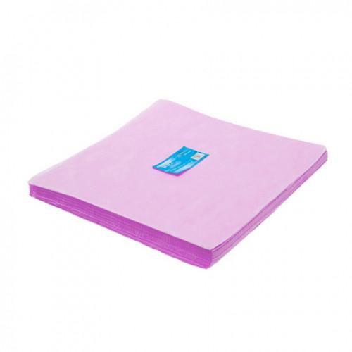 Салфетка одноразовая 40*40 SMS 20 розовый White line 200шт пачка