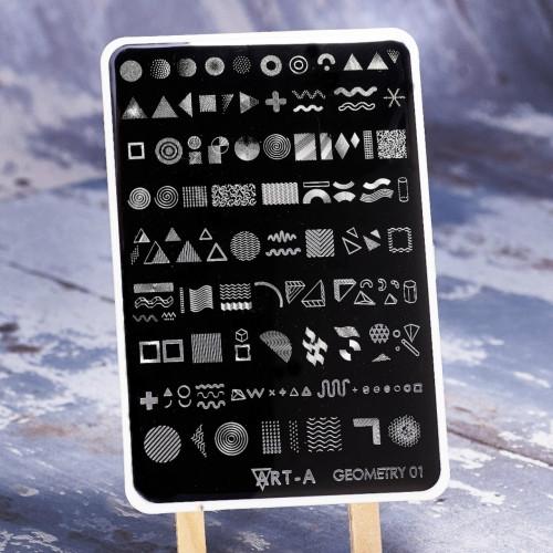 Пластина для стемпинга Art-A MAX Geometry 01