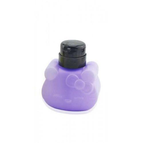 Дозатор пластиковый для жидкостей 250 мл. KITTY с помпой (Фиолетовый)