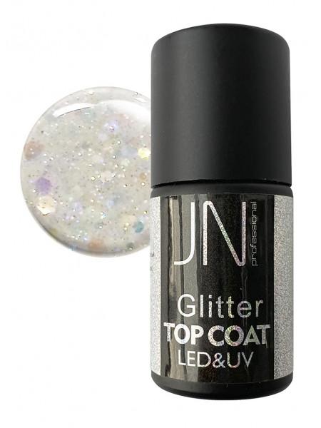 Топ для гель-лака JN Glitter Top Coat 10мл без липкого слоя №01