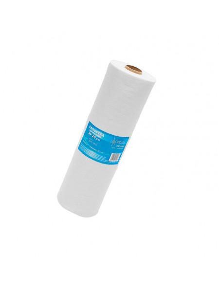 Салфетка одноразовая 30*20 спанлейс белый White line 100шт. рол