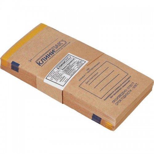 Пакеты бумажные самоклеящиеся КЛИНИПАК 100x250 (крафт, 100 шт.) в Санкт-Петербурге